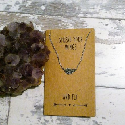 20% off Keepsake necklace on card -  Spread Your Wings And Fly